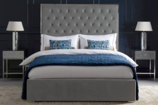 An Image of Lavinia Storage Bed - Platinum Grey