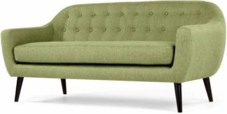 An Image of Ritchie 3 Seater Sofa, Lime Green