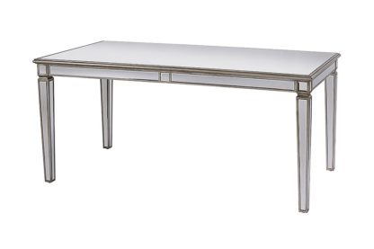 An Image of Antoinette Toughened Mirror Dining Table