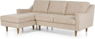 An Image of Dallas Left Hand Facing Chaise End Corner Sofa, Amber Basketweave