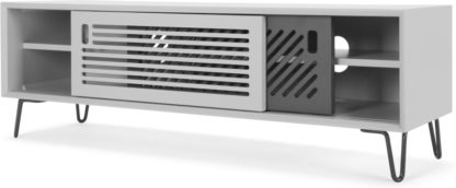 An Image of Pointillee Media Unit, Grey and White