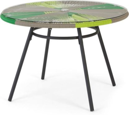An Image of Copa Garden Dining Table, Citrus Green