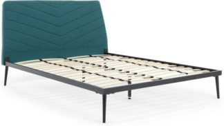 An Image of Lex Double Bed, Mineral Blue