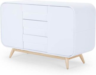 An Image of Esme Sideboard, Ash and White