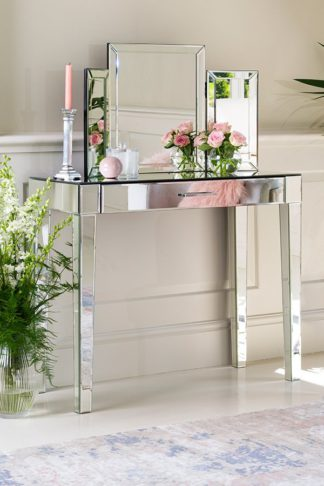 An Image of ZOE Mirrored Dressing Table with Single Drawer