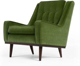 An Image of Scott Armchair, Grass Cotton Velvet