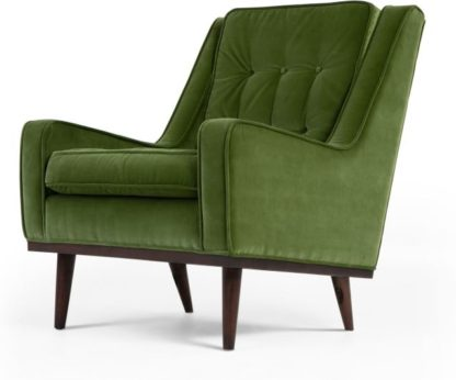 An Image of Scott Armchair, Grass Cotton Velvet