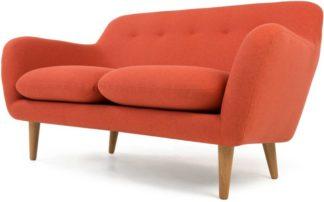 An Image of Dylan 2 Seater Sofa, Retro Orange
