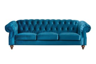 An Image of Buster 3 seat sofa Genova Peacock