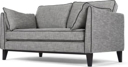 An Image of Content by Terence Conran Keston 2 Seater Sofa, Jet Grey