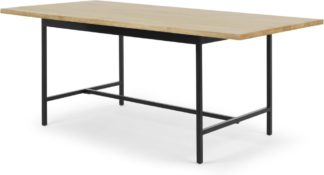An Image of Aphra 8 Seat Dining Table, Light Mango Wood and Black