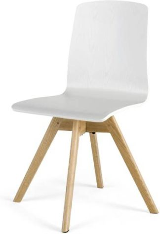 An Image of Dante Swivel Office Chair, Ash and White