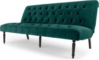 An Image of Slipper Click Clack Sofa Bed, Seafoam Blue Velvet