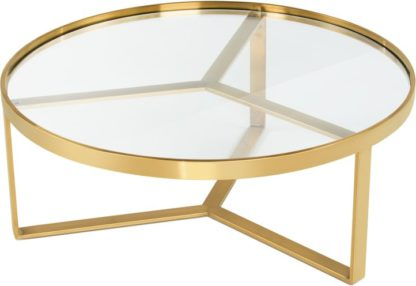 An Image of Aula Coffee Table, Brushed Brass and Glass