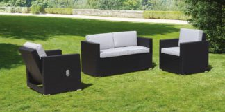 An Image of Cubo Black and Taupe Lounge Set