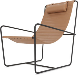 An Image of Nalla Sling Accent Chair, Nutmeg Tan Leather