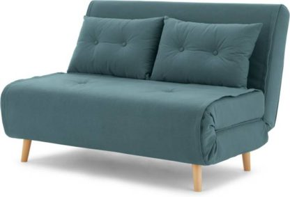 An Image of Haru Small Sofa bed, Sherbet Blue