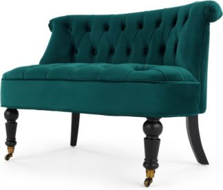 An Image of Bouji Love Seat, Seafoam Blue Velvet