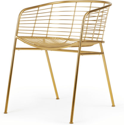 An Image of Alessio Carver Chair, Brass