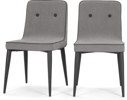 An Image of Set of 2 Herby Dining Chairs, Graphite Grey