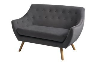 An Image of Poet Sofa, Grey Single Tone