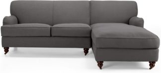 An Image of Orson Right Hand Facing Chaise End Corner Sofa, Graphite Grey