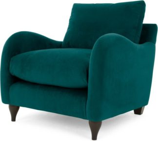 An Image of Sofia Armchair, Plush Mallard Velvet