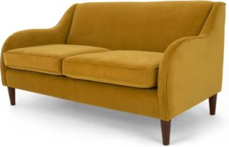 An Image of Helena 3 Seater Sofa, Plush Turmeric Velvet