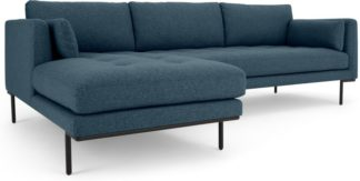 An Image of Harlow Left Hand Facing Chaise End Corner Sofa, Orleans Blue