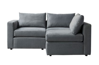 An Image of Miller Two Seat Corner Sofa - Left or Right Hand – Charcoal