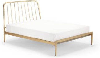 An Image of Alana Kingsize Bed, Brushed Brass
