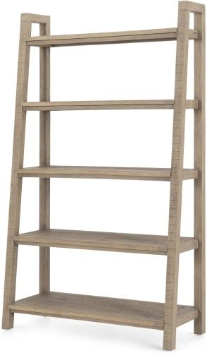An Image of Iona Wide Bookcase, Washed Pine