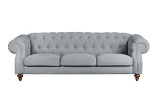 An Image of Buster 3 seat sofa Malaga Steel