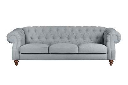 An Image of Buster 3 seat sofa Malaga Steel