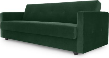 An Image of Chou Click Clack Sofa Bed with Storage, Velvet Pine Green