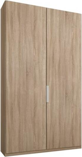An Image of Caren 2 door 100cm Hinged Wardrobe, Oak Frame, Oak Doors, Premium Interior