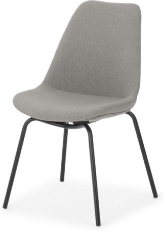 An Image of Briony Dining chair, Cool grey and Black