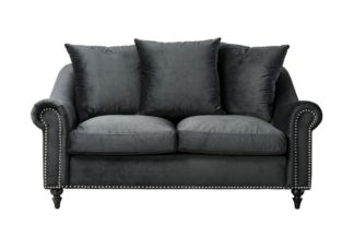 An Image of Portman Two Seat Sofa - Black