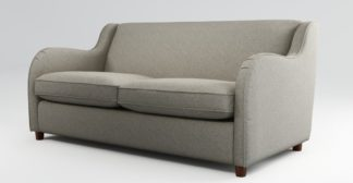 An Image of Custom MADE Helena Sofabed with Memory Foam Mattress, Textured Weave Pebble