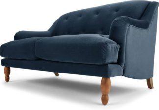 An Image of Ariana 2 Seater Sofa, Sapphire Velvet