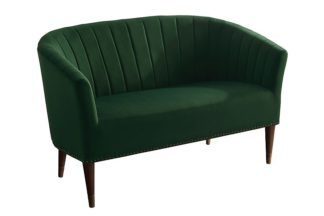 An Image of Bellini 2 Seater Sofa Bottle Green Velvet