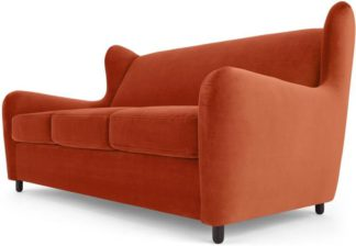 An Image of Rubens Sofabed, Velvet Flame Orange