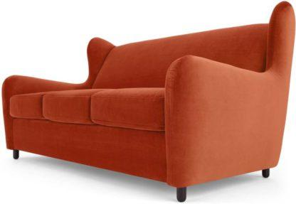 An Image of Rubens Sofabed, Velvet Flame Orange