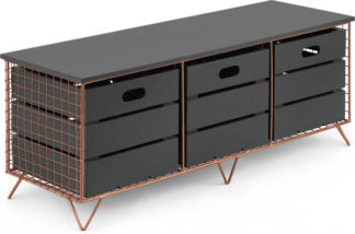 An Image of Amph Storage Bench, Copper and Grey