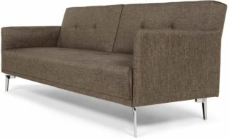 An Image of Akio 3 Seater Sofa Bed, Woodland Brown