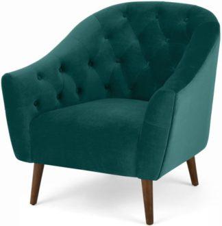 An Image of Tallulah Armchair, Seafoam Blue Velvet