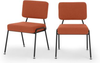An Image of Set of 2 Knox dining chairs, Retro Orange