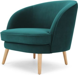 An Image of Gertie Accent Armchair, Seafoam Blue Velvet