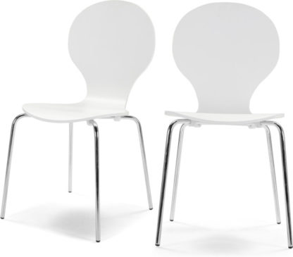 An Image of Set of 2 Kitsch Dining Chairs, White