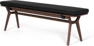 An Image of Jenson Bench, Dark Stain Oak and Dark Grey